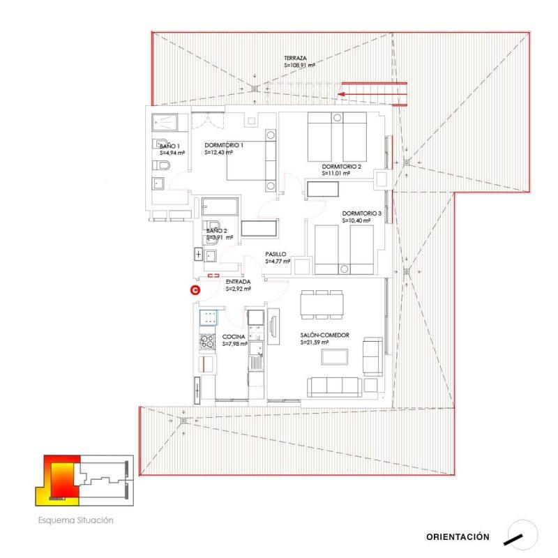 Construciones Rodríguez - Propiedades: Ático C